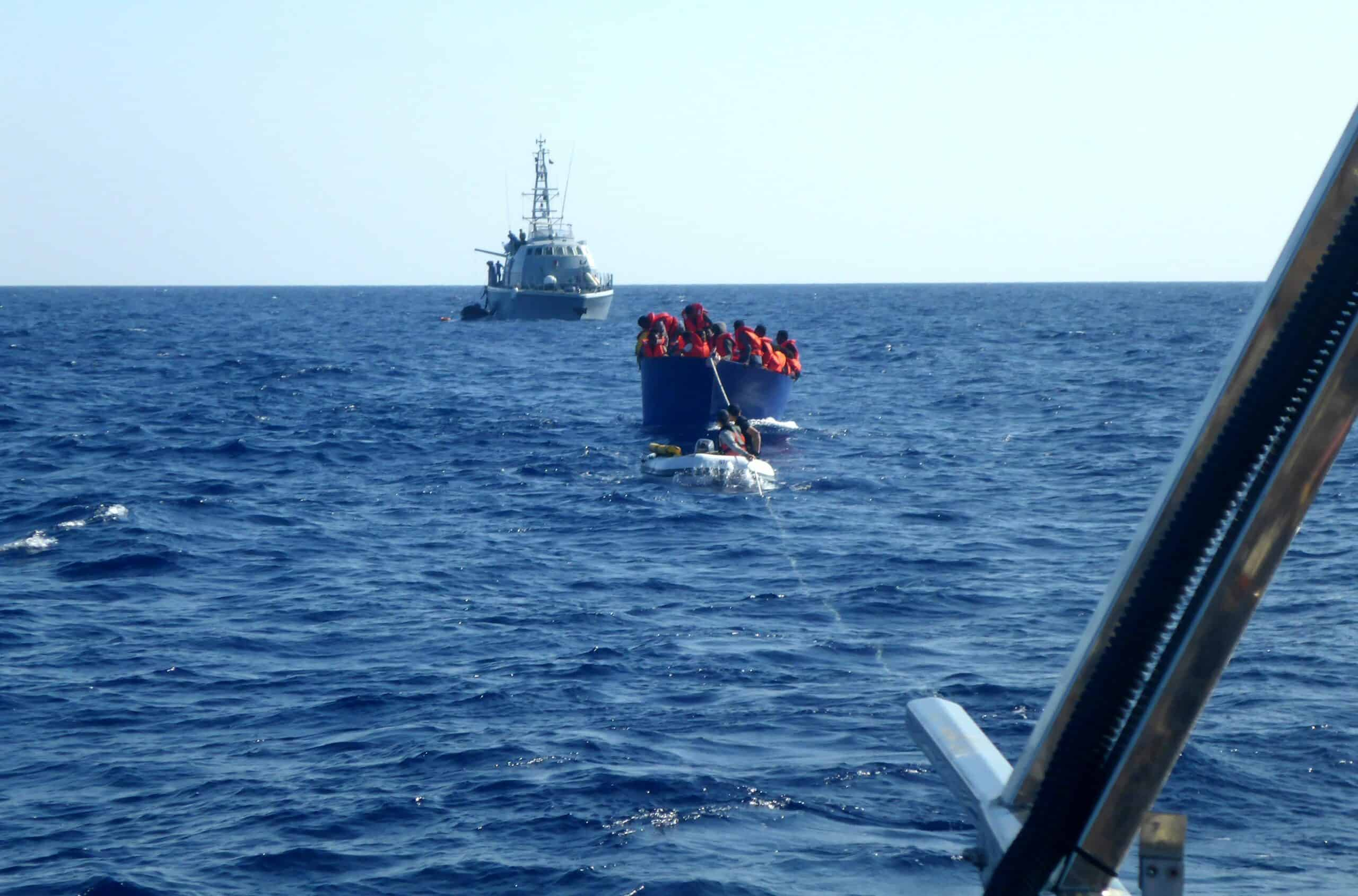 Libysche Küstenwache im Anmarsch
