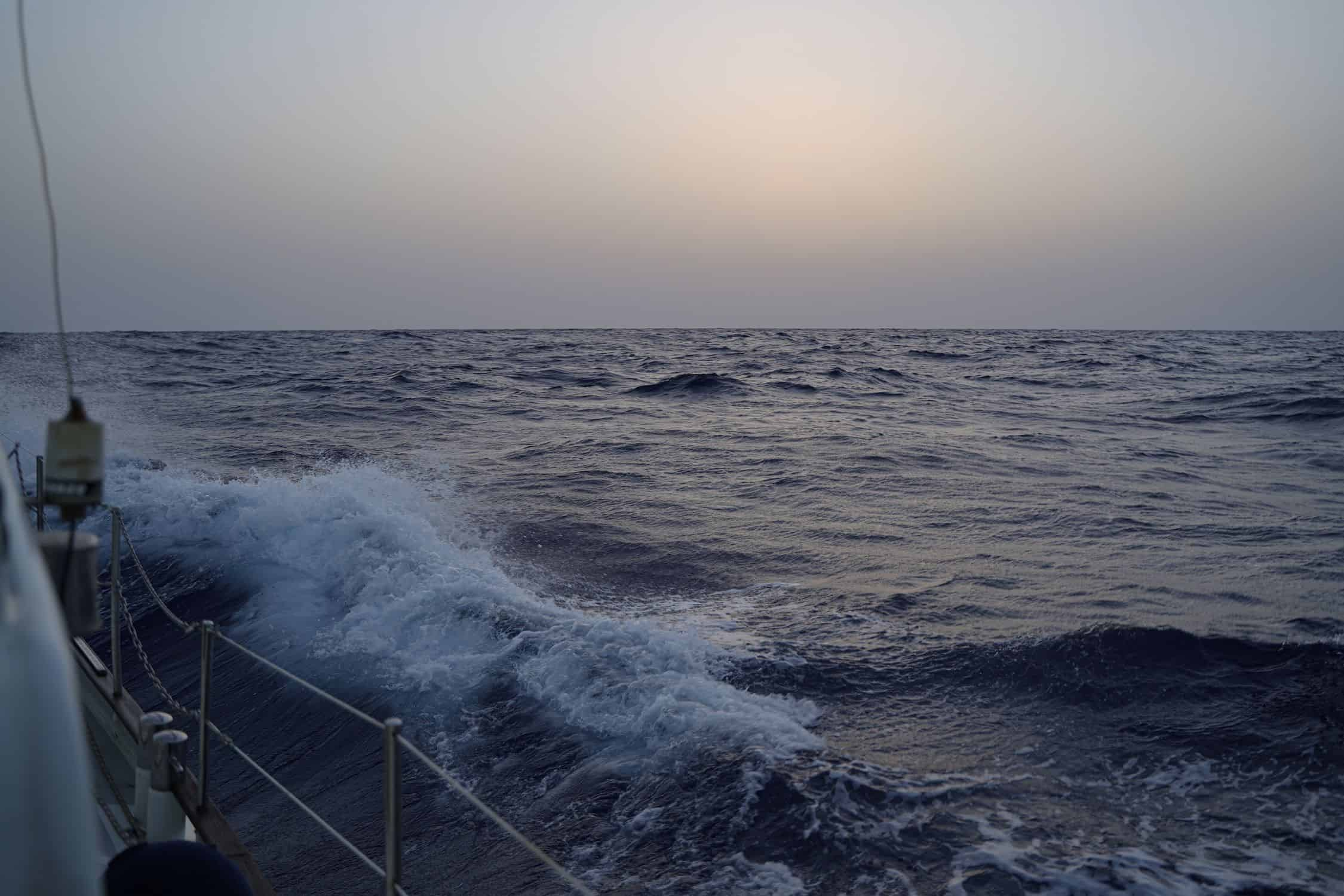 Wellengang-Morgengrauen