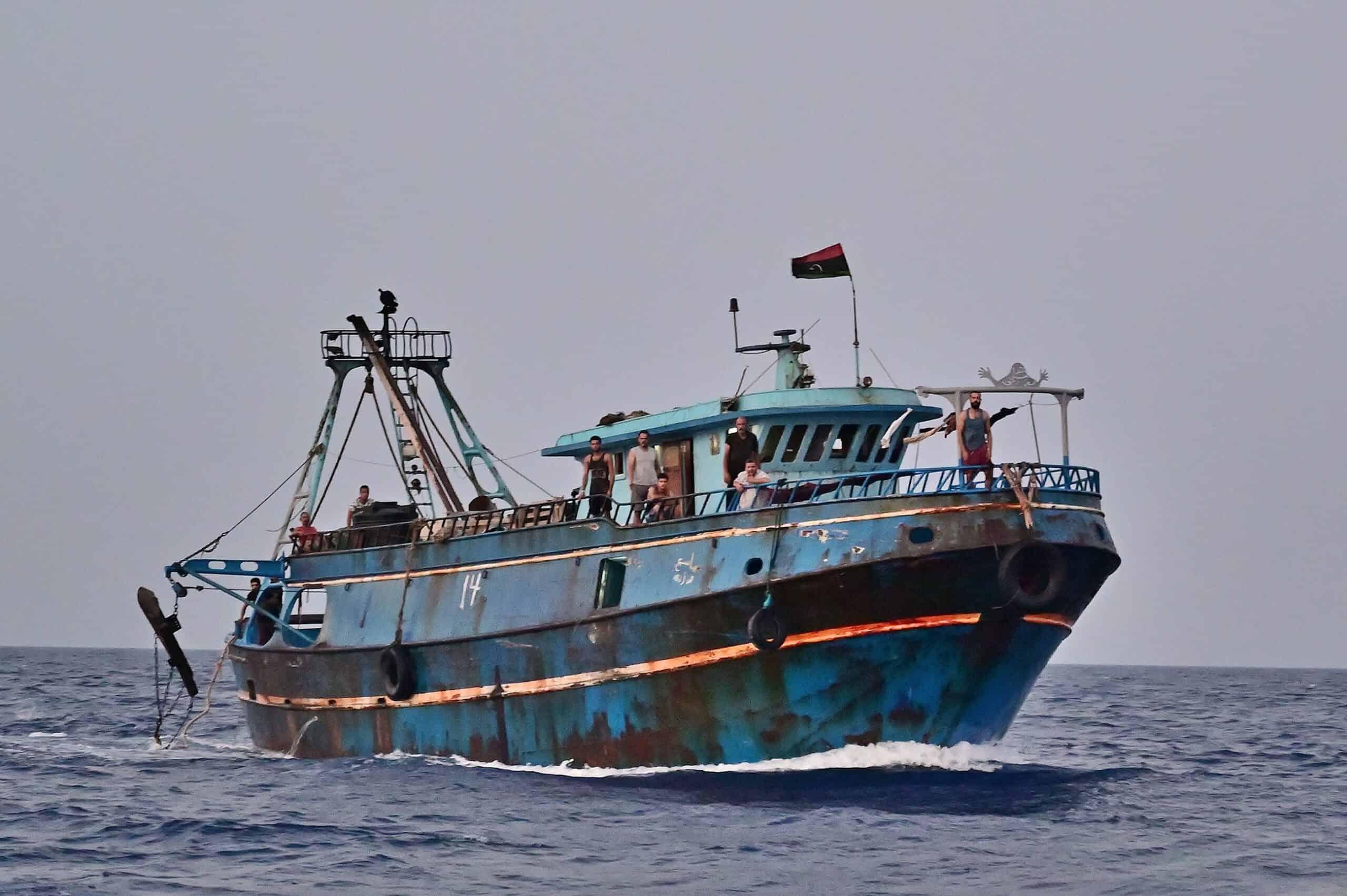 Libyscher Fischkutter