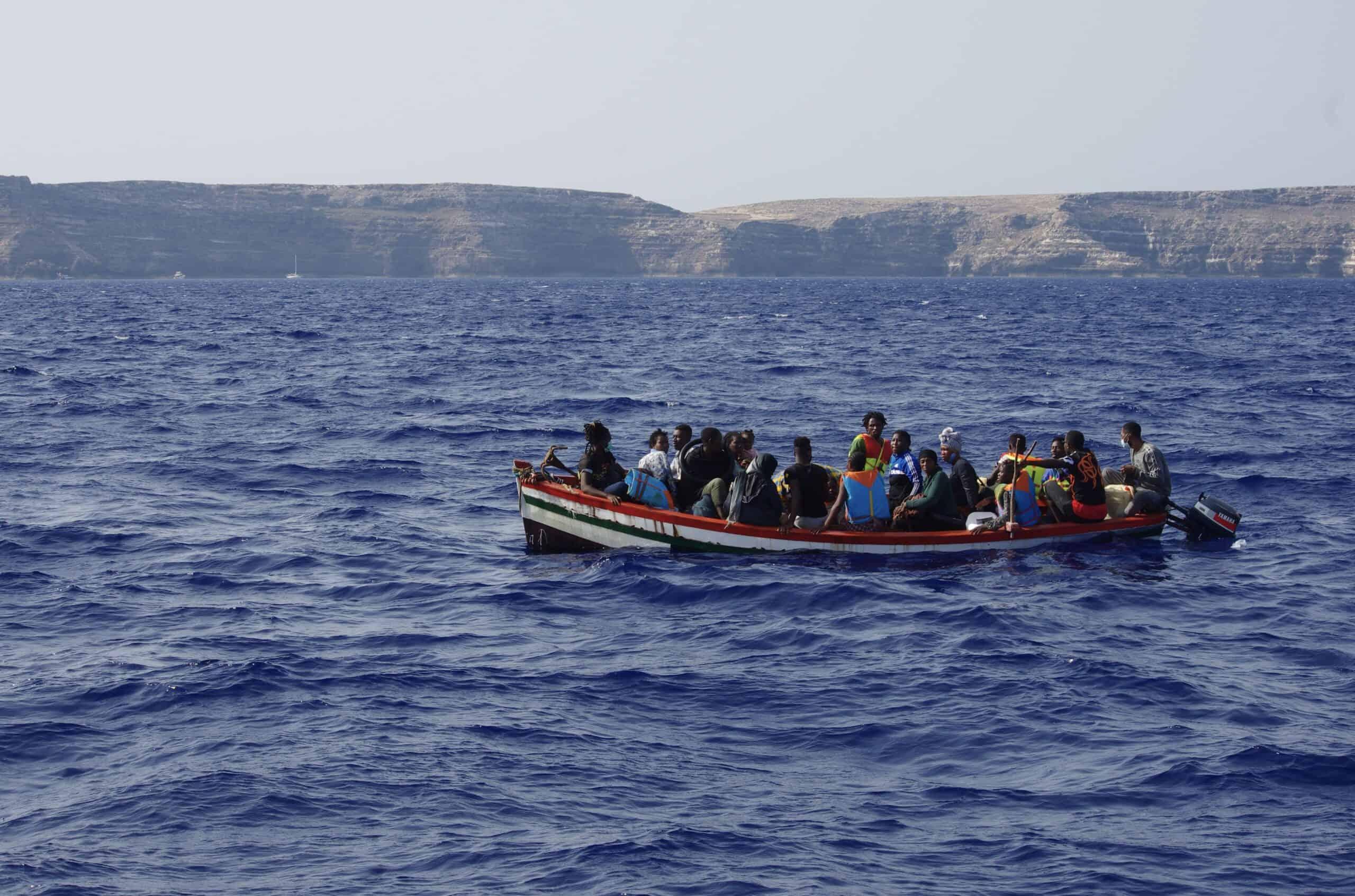 Boot 5 vor Lampedusa